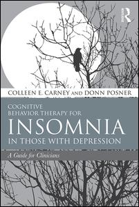 CBT for insomnia in those with depression book cover